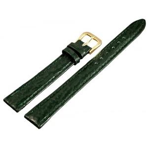 Basic Echtleder Armband in dunkelgrün Haifischoptik flach, 12 mm...