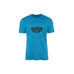 Sinus Art T-Shirt Vintage Herren T-Shirt Kristallschale blau M