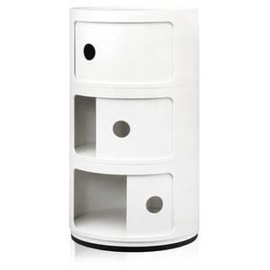 Kartell Componibili 3 Elemente Container weiß