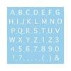 Rayher Rayher Dekor-Schablone abc Großbuchstaben blau