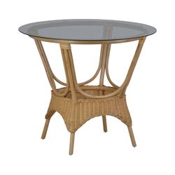 Rattan Tisch 'Wanuta' honig Glas, Rattan