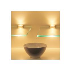 kalb LED Glaskantenbeleuchtung kalb LED Glasregal Wandpaneel Hängeregal Wandboard Wandregal Regal beleuchtet 15 cm x 30 cm x 8 cm