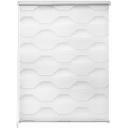 Doppelrollo Doppelrollo Trapez, K-HOME, Lichtschutz, ohne Bohren, freihängend 110 cm x 150 cm
