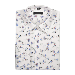 Lavard Weißes Hemd mit Blumenmotiv 91105  39/176-182
