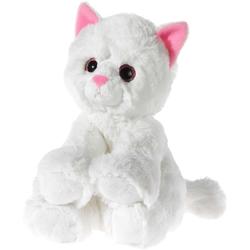 Heunec® Kuscheltier Glitter Kitty Katzenbaby Weiß, 24 cm