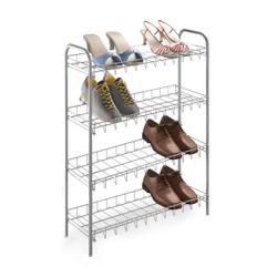 Metaltex Shoe Schuhregal, Platzsparendes Regal aus LDPE, leichter Aufbau ohne Werkzeug, Maße: 64 x 23 x 80 cm, 4 Etagen