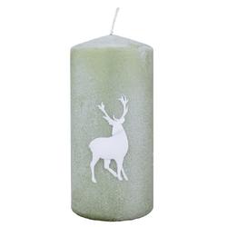 Wiedemann Weihnachtskerzen Stumpen Powder Deer Aloe Vera 150 x 70 mm, 4er Set Kerzen