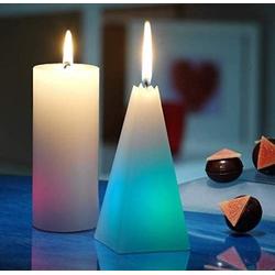 JOKA international LED-Kerze Regenbogenkerzen Pyramide + runde 6 Stück (6-tlg), Regenbogenkerze