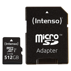 Intenso Micro SDXC Karte 512GB Speicherkarte UHS-I Premium mit Adapter Speicherkarte
