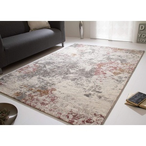 Steffensmeier Kurzflorteppich Harmonious Colours   Teppich mit modern gestaltetem Muster für Wohnzimmer in Rosa, Größe: 160x230 cm