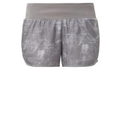 ADIDAS PERFORMANCE Damen Shorts 'Run it Short Washed Look ' grau