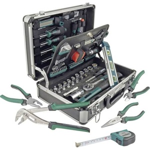 Brüder Mannesmann M29067 Heimwerker Werkzeugkoffer bestückt 90teilig (L x B x H) 370 x 135 x 265mm