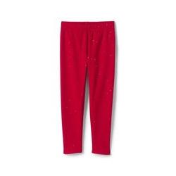 Fleecegefütterte Leggings - 92/98 - Rot