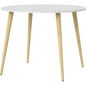 Home affaire Esstisch Oslo, mit massiven Eichenholzbeinen, mit einer melaminbeschichteten Tischplatte, Made in Denmark, Breite 100 cm weiß