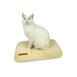 SCHLITZOHR Katzenliege, Polyester, Fensterbankliege Teddy, stabile Katzenliege für Fensterbank, gepolstertes Fensterbrett für Katzen, 51x36cm natur