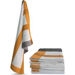 normani Geschirrtuch 10 Stück Geschirrtücher New Design orange 55 cm x 75 cm