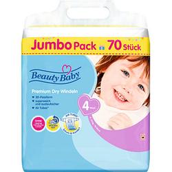 Beauty Baby Windeln Premium Dry Größe Gr.4 (9-14 kg) für Babys und Kleinkinder