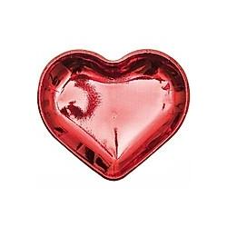 Pappteller Herz, Rot, Fsc Mix