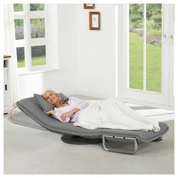 aktivshop Gästebett Schlafsessel Nimmerland, Breite 73 cm, graumeliert grau