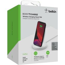 Belkin BoostCharge Wireless Charging Stand 15 W Ladestation (Lader) weiß