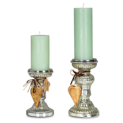Levandeo® Kerzenständer, 2er Set Kerzenständer H21cm H17cm Kerzenhalter Tischdeko Kerzenleuchter Deko
