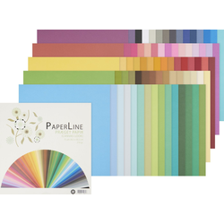 VBS Papierkarton Papier-Set Colorful, 75 Blatt