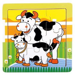 Bino Holz-Puzzle Kühe
