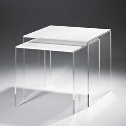 Beistelltisch Set aus Acrylglas Weiß (2-teilig)