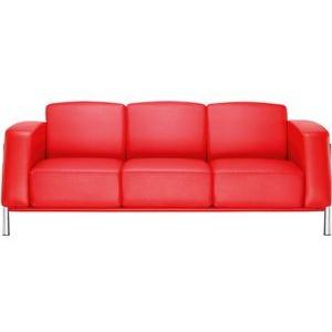 Nowy-Styl Loungesofa CLASSIC III, Echt Leder, rot, 3-Sitzer