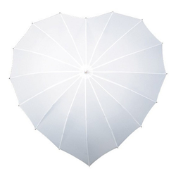 BigDean Partnerschirm Regenschirm Herz Stockschirm Herzform weiß Schirm