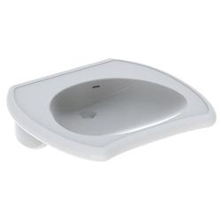 Geberit Waschtisch VITALIS 650 x 600 mm, barrierefrei, mit Überlauf weiß