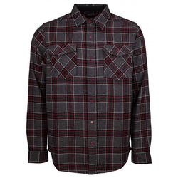 Hemd INDEPENDENT - Hatchet Button Up L/S Shirt Oxblood Plaid (OXBLOOD PLAID) Größe: M