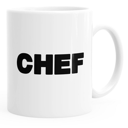 MoonWorks Tasse Kaffee-Tasse Chef-Tasse einfarbig MoonWorks®