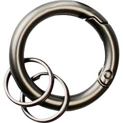 Basi Schlüsselring mit Karabiner 0006-0156 Grau, Schwarz 10 St./Pack. 10St.