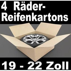 "4 Reifenkartons Komplettradkartons für 18 19 20 21 22 """