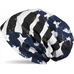 styleBREAKER Beanie Beanie im USA Flaggen Design Beanie im USA Flaggen Design blau