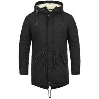 SOLID Winterjacke Darnell warme Jacke lang geschnitten schwarz XXXL