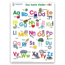 Das bunte Kinder-ABC. Poster 100 x 70 cm