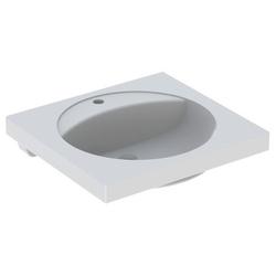 Geberit Waschtisch PRECIOSA 600 x 550 mm, mit Ablagefläche, mit Hahnloch, ohne Überlauf weiß