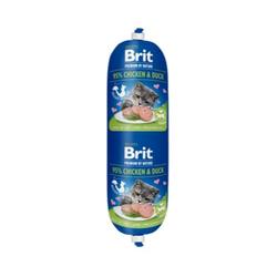 BRIT Premium Cat by Nature Sausage Chicken & Duck Fleischwurst Huhn & Ente 180 g
