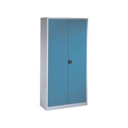 CP Aktenschrank abschließbar blau 100 cm x 195 cm x 42 cm