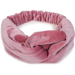 styleBREAKER Haarband Haarband Samt mit Twist Knoten, 1-tlg., Haarband Samt mit Twist Knoten rosa