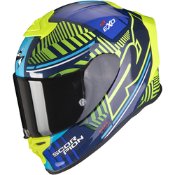 Scorpion EXO-R1 Air Victory Helm Blauw Geel XL