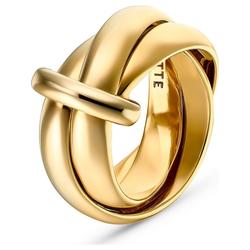 JETTE Fingerring JETTE Damen-Damenring 925er Silber gelb 55