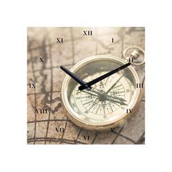 Wanduhr Kompass