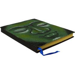 Guru-Shop Tagebuch Notizbuch, Tagebuch - Budha grün