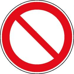 Verbotsschild Allgemeines Verbotszeichen, Hygiene und Abstand Aluminium (Ø) 400mm ISO 7010 1St.