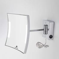 Koh-I-Noor QUADROLO LED Wand-Kosmetikspiegel, A: 310 mm, Vergrößerung 3x C60/1KK3