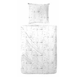 Bettwäsche Mabra, Primera, mit außergewöhnlichem Muster weiß 1 St. x 155 cm x 220 cm