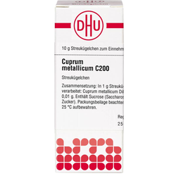 CUPRUM METALLICUM C 200 Globuli 10 g